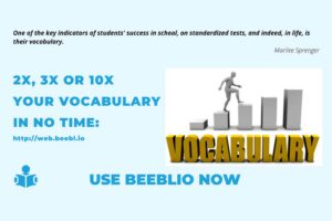 How Beeblio can help you improve your vocabulary